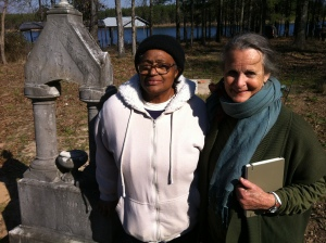 China Galland and Doris Vittatoe at Love Cemetery