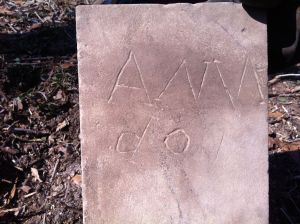 New (to us) headstone found during 2013 cleanup
